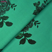 Turquoise Green Printed Kanchi Silk Fabric