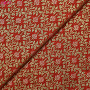 Red Banarasi Silk Fabric