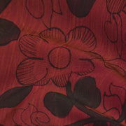 Rust Orange Pen Kalamkari Fabric