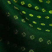 Bottle Green Zari Button Kanchi Silk Fabric