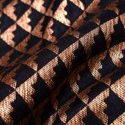 Black Diamond Design Antique Banarasi Silk Fabric