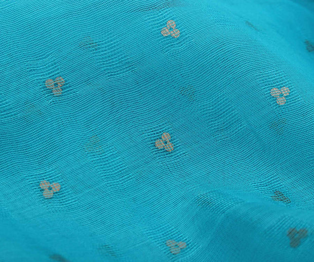 Blue Color Bailu Fabric with Sequence