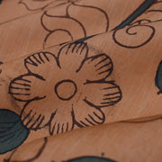 Peach Pen Kalamkari Fabric