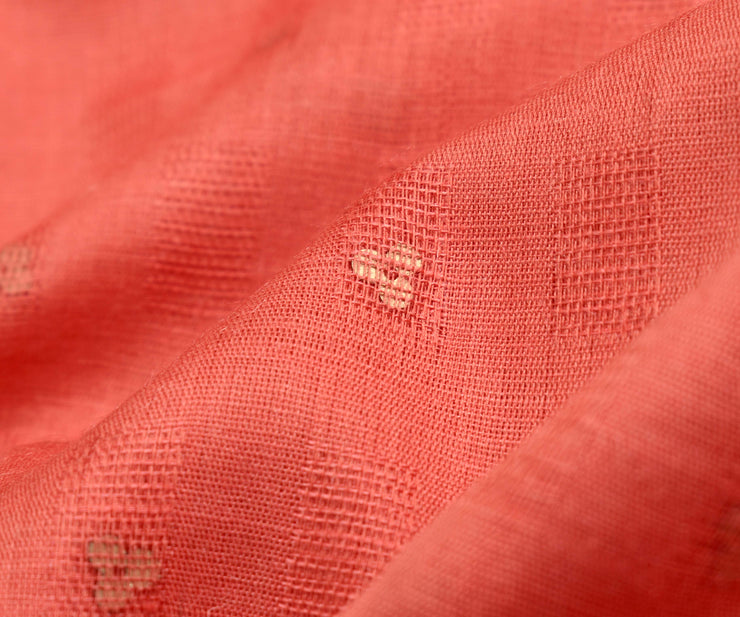 Peach Bailu Silk Fabric