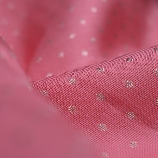 Pink Kuligai Button Kanchi Silk Fabric