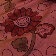 Dual Tone Mustard And Pink Pen Kalamkari Fabric