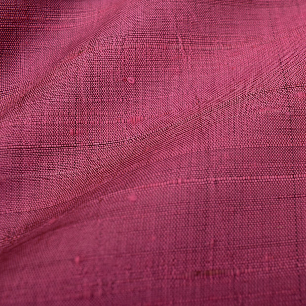Punch Pink Raw Silk Fabric