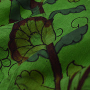 Parrot Green Pen Kalamkari Fabric