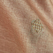 Light Coral Pink Tussar Fabric With Thread Butta