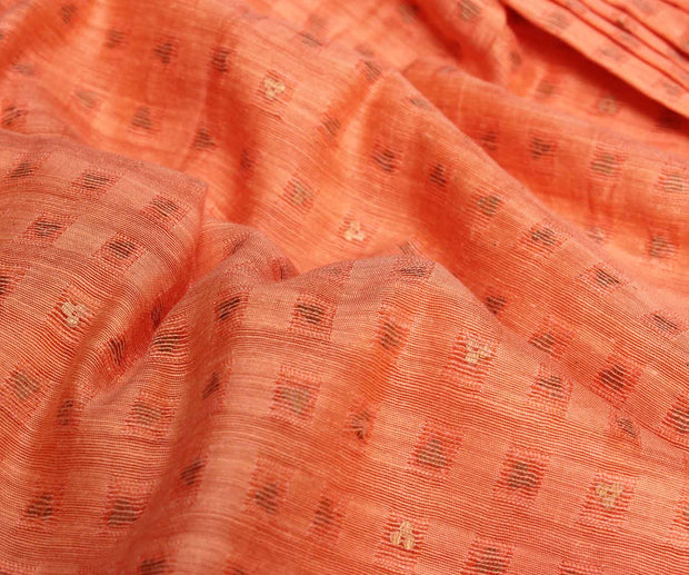 Orange Bailu Silk Fabric
