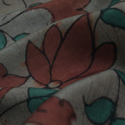 Stone Grey Pen Kalamkari Fabric