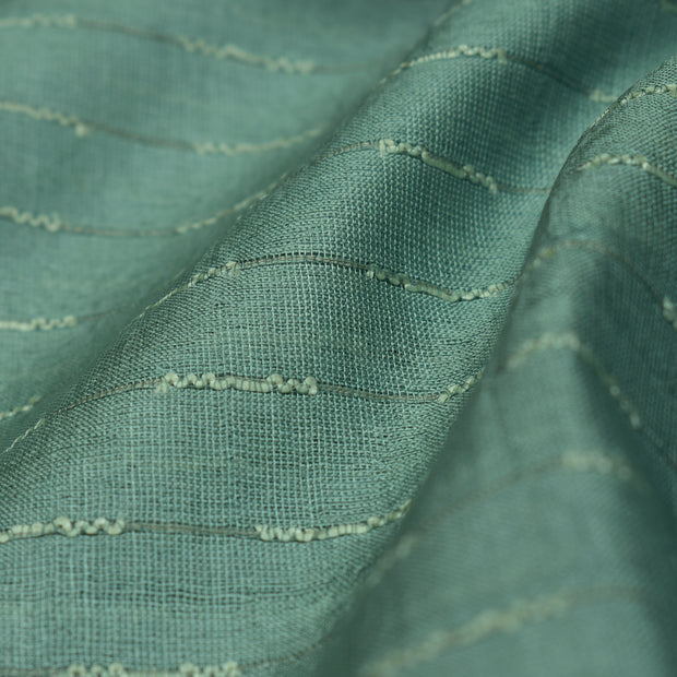 Light Cadet Blue Tussar Silk Fabric