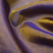 Dual Tone Purple And Mustard Kanchi Silk Fabric