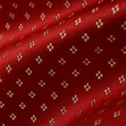 Red  4 Kuligai Button Satin Banarasi Silk Fabric