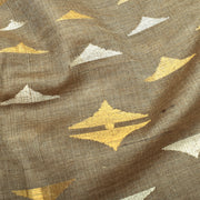 Pewter Grey Tussar Fabric With Mountain Butta Highlighted