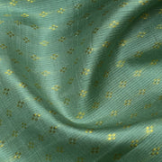 Apple Green 4 Kuligai Button Kanchi Silk Fabric