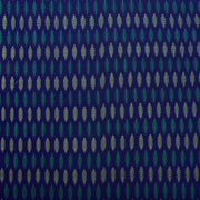 Ink Blue Ikkat Silk Fabric