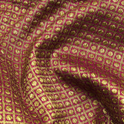 Rose Antique Zari Kattam Banarasi Silk Fabric