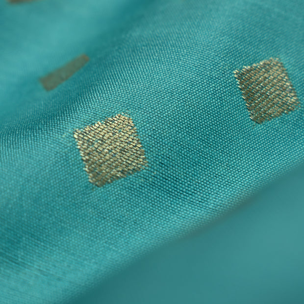 Sky Blue Banarasi Silk Fabric