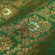 Forest Green Banarasi Silk Fabric