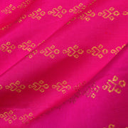 Rose Jewel Button Kanchi Silk Fabric