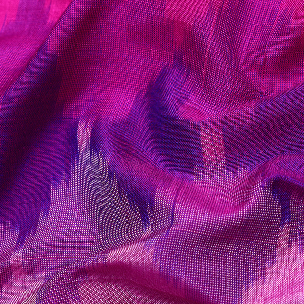 Multi Shade Pink and Rose Ikkat Silk Fabric