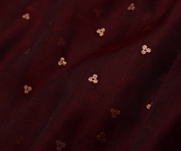 Brown Bailu Silk Fabric