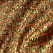 Orange Antique Diamond Design Banarasi Silk Fabric
