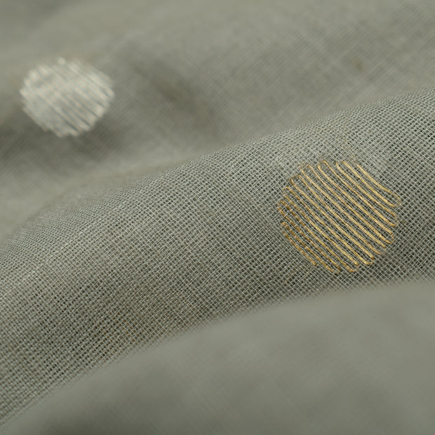 Grey Tussar Fabric