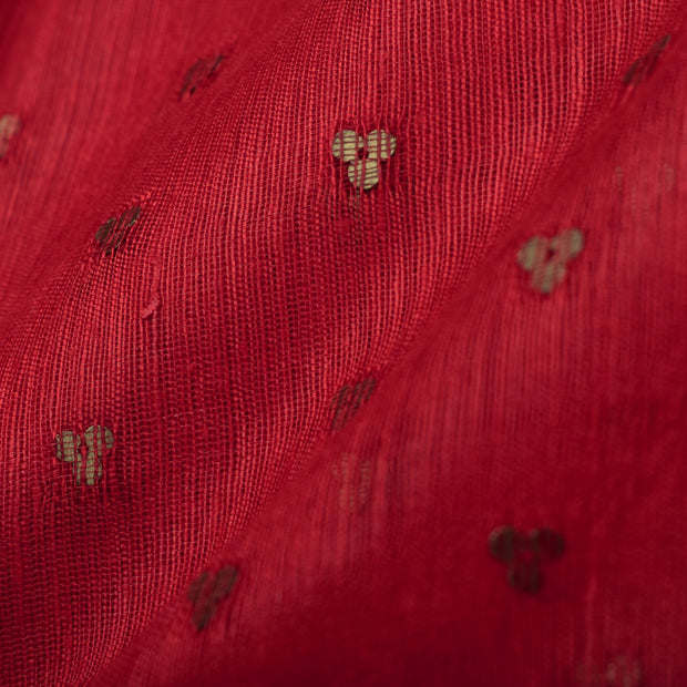 Red Bailu Silk Fabric