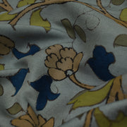 Light Grey Pen Kalamkari Fabric