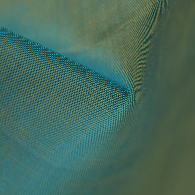 Dual Tone Baby Blue And Half White Kanchi Silk Fabric