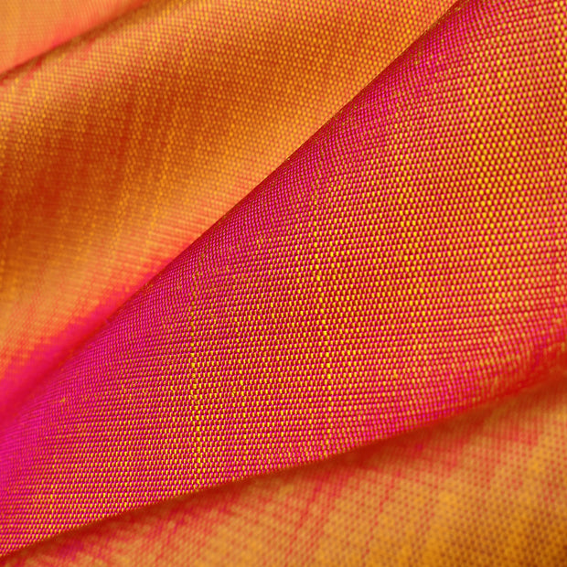 Dual Tone Rose And Mustard Kanchi Silk Fabric