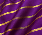 Violet Kanchi Silk Fabric With Striped Zari Design