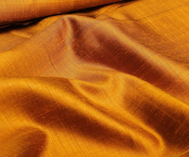 Double Shade Mustard Raw Silk Fabric