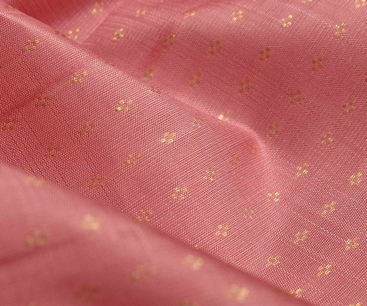 Guava Kanchi Silk Fabric With With Highlighted Zari