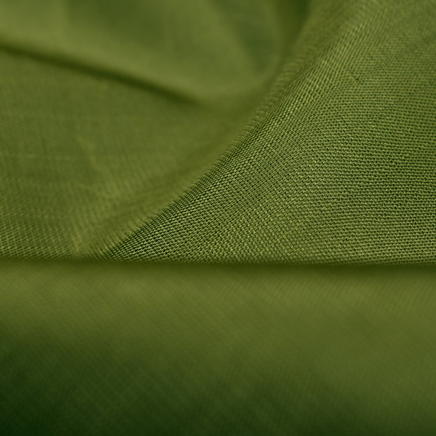 Olive Green Kanchi Silk Fabric