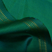 Dual Tone Blue And Green Kanchi Silk Fabric