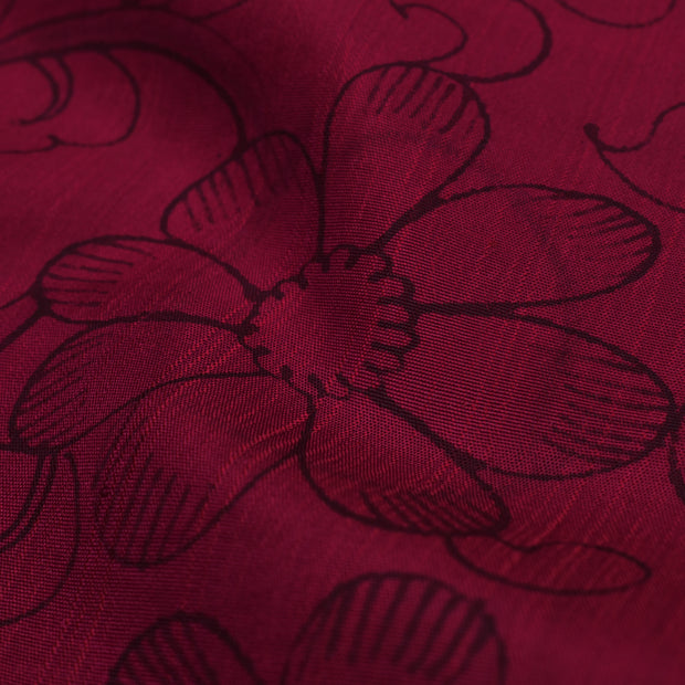 Red Pen Kalamkari Fabric