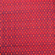 Double Shaded Red & Purple Raw Silk Ikkat Fabric