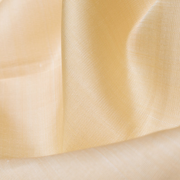 Half White Kanchi Silk Fabric