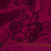 Pink Pen Kalamkari Fabric