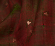 Red and Green Double Shaded Bailu Silk Fabric