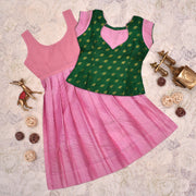 Green Top With Pink Skirt