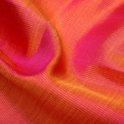 Dual Tone Orange And Rose Kanchi Silk Fabric