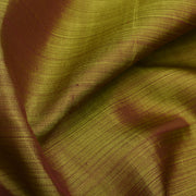 Dual Tone Olive Green And Maroon Kanchi Silk Fabric