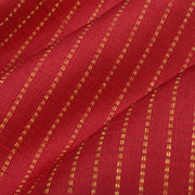 Red Muthuseer Line Kanchi Silk Fabric