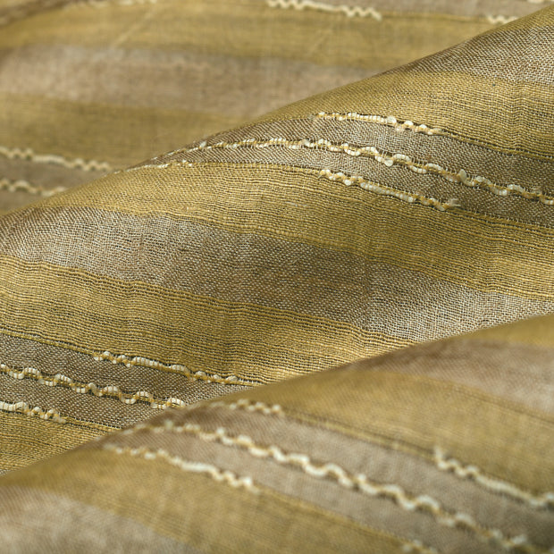 Sandal Wood Tussar Silk Fabric
