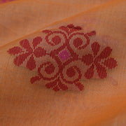 Orange Tussar Fabric