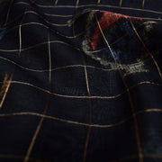 Black Maheshwari Silk Fabric